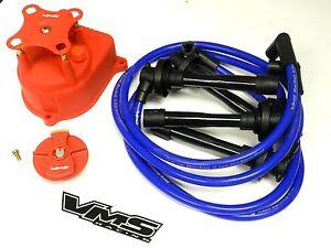 distributor cap rotor spark plug wire kit for 92 95 honda civic rh ebay com 2000 Honda Civic Distributor Cap Honda Civic Distributor Wiring