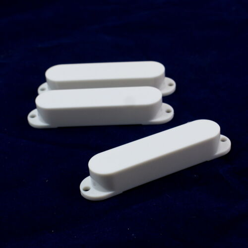 No holes //White Strat Style Single Coil Guitar Pickup Cover Set
