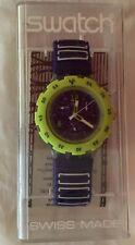 Nib Sbk401 Chrono Swatch 1997 Watch Fluo In Water Never New Aqua NZwX0nk8OP