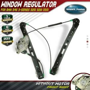 A-Premium Power Window Regulator Without Motor for BMW E46 323i 325i 325xi 328i 330i 330xi Front Right Passenger Side