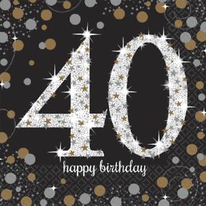 40-Geburtstag-Party-Servietten-Amscan-Motivservietten-Tisch-Deko-Dekoration