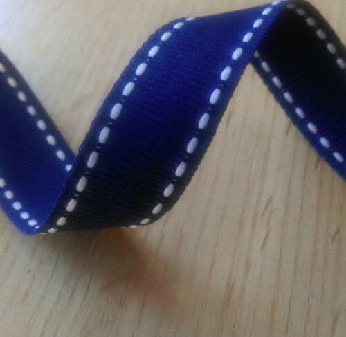 1 Assorted Colours 3 or 5 Metres 15mm Stitched Grosgrain Ribbon
