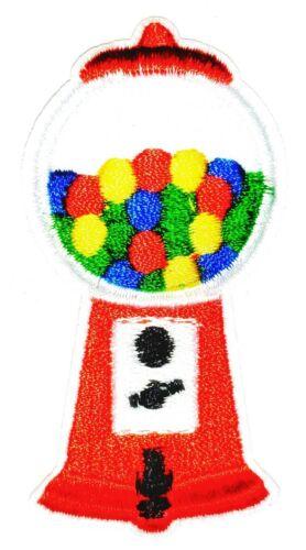 "Bubblegum Machine Patch Candy Iron On Applique Apx 1.50/"" X 2.50/"" Red"