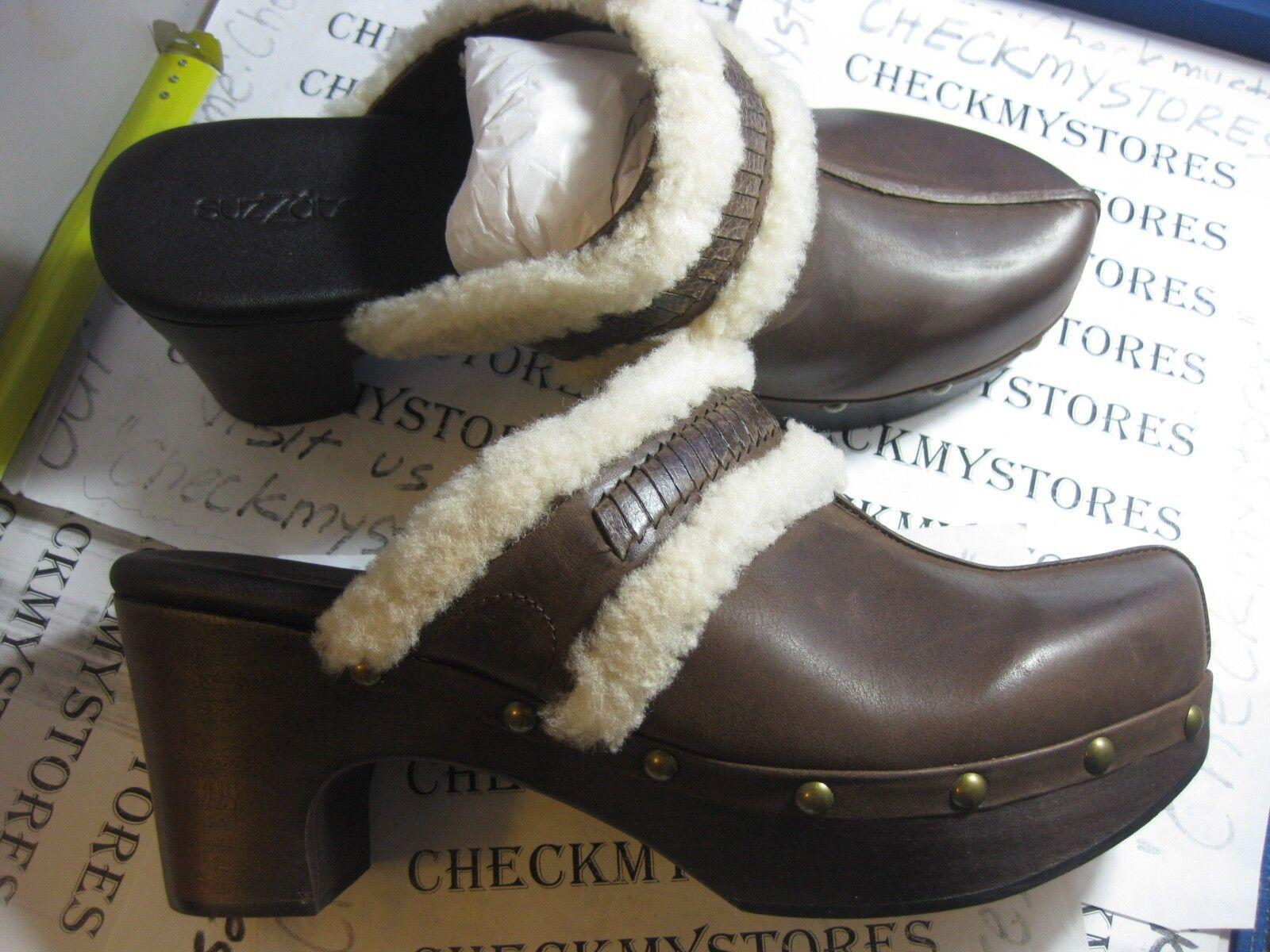 NIB NEW  SUZZATO SHAYNA  PREMIUM LEATHER COMFORT DESIGN CLOGS scarpe