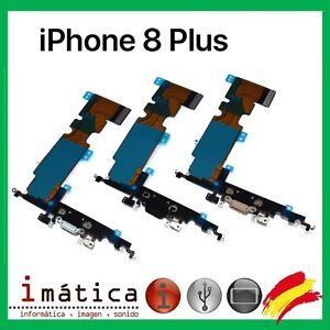 CONECTOR-CARGA-iPHONE-8-PLUS-COLOR-NEGRO-BLANCO-FLEX-JACK-ANTENA-MICROFONO-CABLE