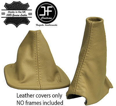 Tan stitch leather gear gaiter fits land rover discovery 200TDI 300TDI TD5 V8