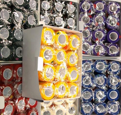 24 Haftbandage 2,5cm x 4 m elastische selbsthaftende Flexbandage Fixierbinde Bandagen Pferdeausstattung & Zubehör