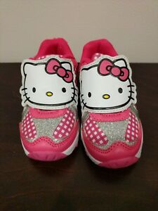 a2c4bcb2c NEW Hello Kitty LED Lights Hearts Toddler Girls Shoes Ribbon Pink US ...