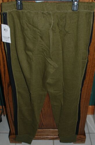 NWT Women/'s Life Is Good LIG Stitch Green Marled Terry Jogger Pants