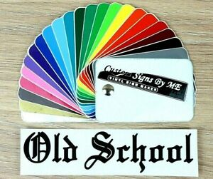 Old-School-BMX-Track-Fixie-Bike-Car-Sticker-Vinyl-Decal-Adhesive-Window-Bumper