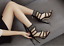Women-Fashion-Stiletto-Suede-Rhinestone-Ankle-Strap-High-Heels-Sandals-Boots thumbnail 4