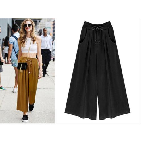 1Piece Modern Women Casual Loose Harem Pants Wide Leg Palazzo Trouser Plus Size