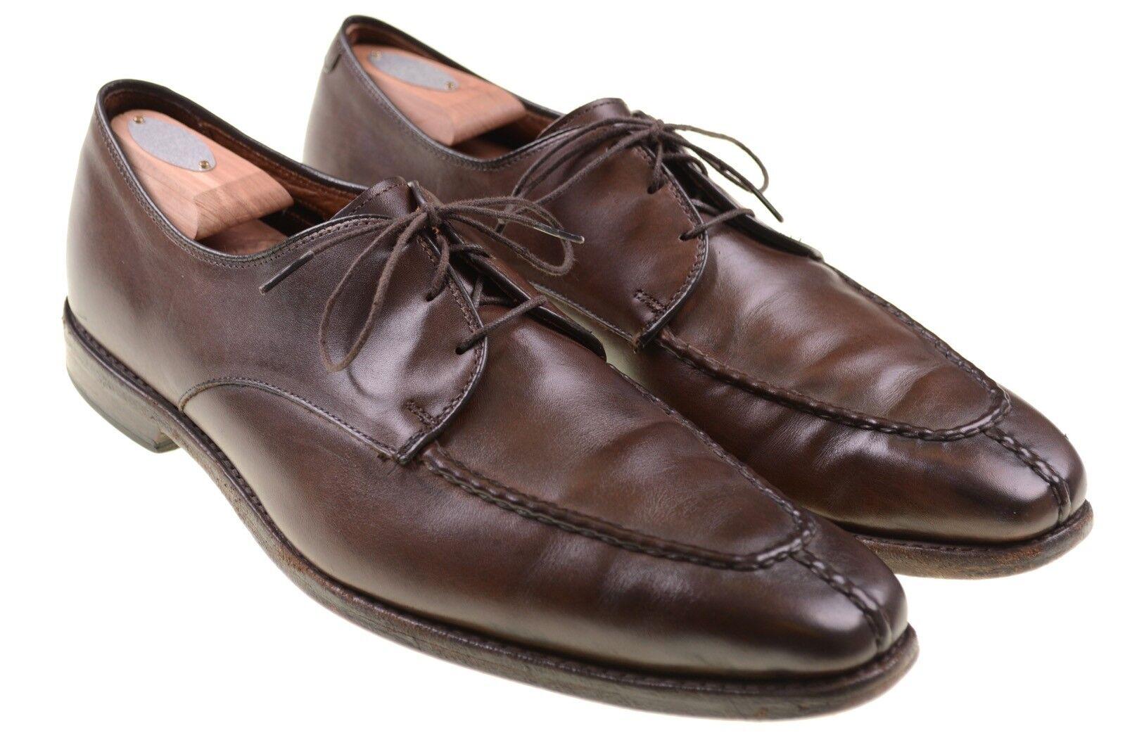 Allen Edmonds Parkway Brown Leather Split Toe Blucher Dress Shoes 12 B