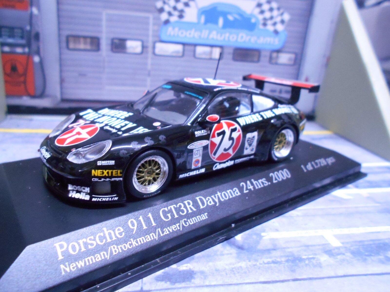 Porsche 911 996 gt3r GT R 2000 Daytona  75 texaco Newman Minichamps 1 43