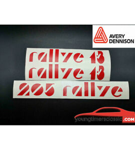 Kit-Stickers-pour-PEUGEOT-205-RALLYE-coffre-custodes-laterales