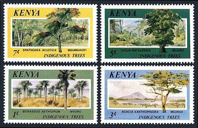 1986 Offensichtlicher Effekt Mnh Trees Kenia 360-363