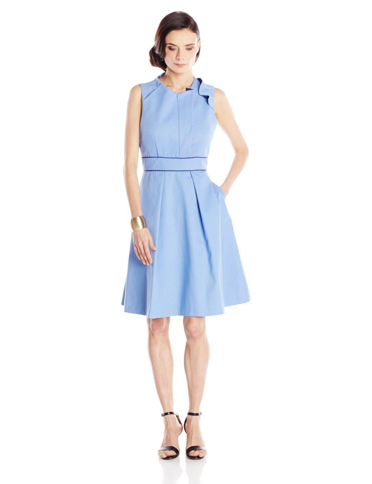 Amicia Bella Jennifer Knee Length Dress with Pockets - Blau - Größe 6 - Small