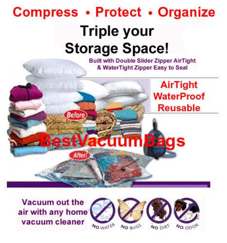 12 Pcs 27  x 39  EXTRA LARGE Vacuum Space Bags Saving Storage Space