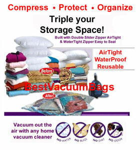 60 Pcs MixSize 30-M 30-XL Vacuum Space Bag Saving Storage Space