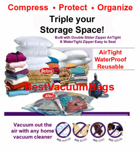 "18 Pcs 27/"" x 39/"" EXTRA LARGE Vacuum Space Bags Saving Storage Space"