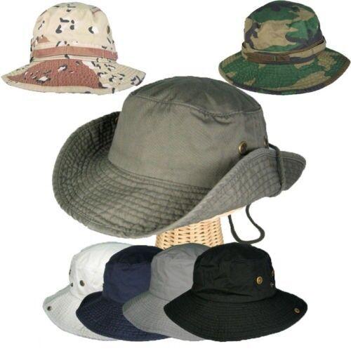 Bucket Hat Hiking Fisherman Safari Outback Outdoor 100/% Cotton Stone Wash Unisex