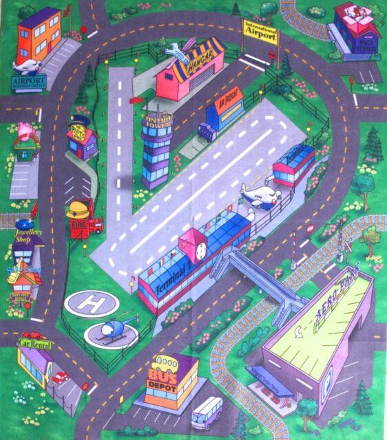 Airport Floor Play Mat Felt Game Children Kids Toy Themed MATS Preschool to 10+