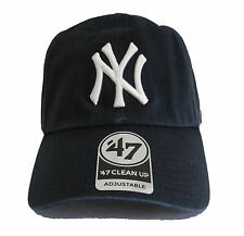 b64a85c4762 47 Brand New York Yankees Black Basic Logo Clean Up Adjustable Navy blue Hat