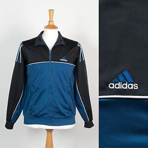 63abcbf13c58 Image is loading VINTAGE-ADIDAS-TRACKSUIT-JACKET-MENS-TRACK-TOP-90-