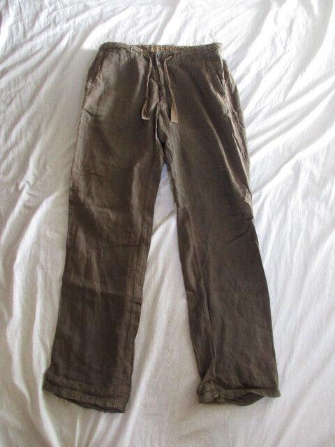 Pantalon en lin Napapijri brown size 44 à - 65%