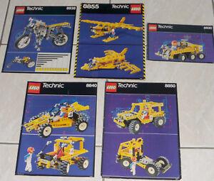 LEGO-technic-lot-de-5-instructions-en-bon-etat-8855-8830-8840-8850-8838