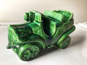 Vintage Automobile Car Truck Planter Green Glaze Haeger Pottery Mccoy Retro