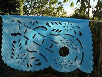 Mexican Fiesta Plastic Papel Picado Size Small. Plastico Picado Fiesta Mexicana