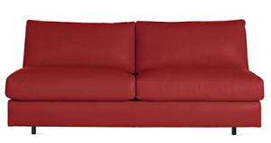 Authentic DWR Exclusive Reid Armless Sofa Vienna Leather - Rouge ...