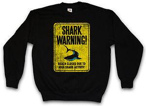 Ii Killer Surfing Tiger Warning Sweatshirt Diver Shark Taucher Surfer Sign White qESvZZCw