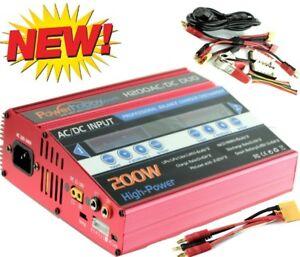 Powerhobby H200 Ac/dc Fast Lipo Chargeur Batterie Arrma W Banane Xt90 Rouge