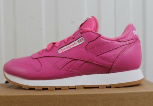 Trainers 10 Original Bnib Gum juniors Pink Women's Leather Classic Reebok qT7Bp4p