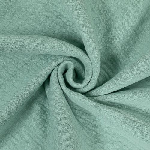 Prix = 0,5 m Coton double Gauze Mousseline Uni Comme neuf Enfants Tissu
