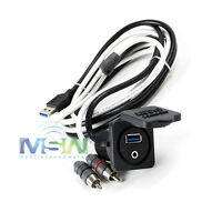 Jl Audio Xmd-usb/3.5mm-pnl Combo 3.5 Mm Audio Jack & 9-wire Usb Port Panel Mount