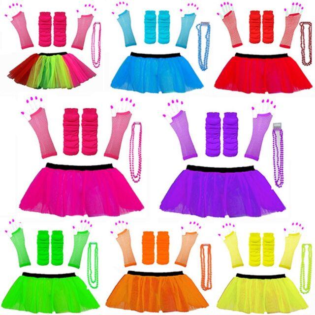 PINK NEON TUTU SKIRT FANCY DRESS HEN PARTY PARTY UV FISHNET LADIES 8-16 /& 16-22