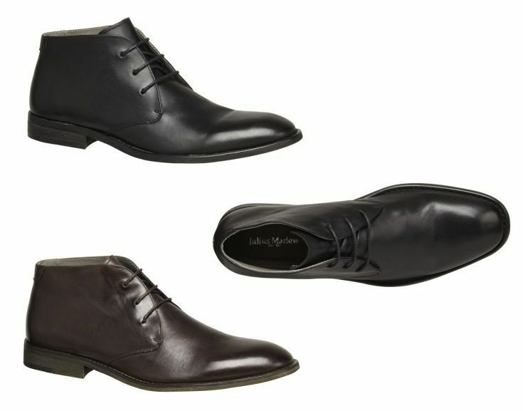 MENS JULIUS MARLOW HAVOC FORMAL CASUAL LEATHER BOOTS BLACK BROWN SHOES BOOTS