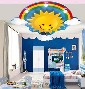 Image Is Loading Sun Rainbow Led Ceiling Light Pendant Lamp Lighting