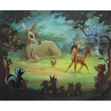 Original Disney Bambi Lithograph signed by Frank Thomas and Ollie Johnston