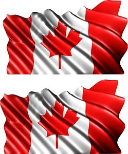 Set Canada Flag Canadian Trailer Boat Car MOTORCYCLE Truck - Decals for boats canada