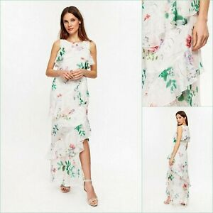 Wallis-Maxi-Dress-Size-16-Ivory-Floral-Print-BNWT-65-RRP-Brand-New