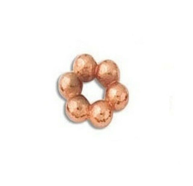 COPPER 8MM BALI STYLE BRIGHT SPACER 20 PCS. SOLID COPPER BBCP29
