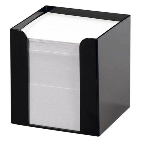 folia Zettelbox Zettelkasten Notizwürfel Notizklotz Zettelklotz 700Blatt schwarz