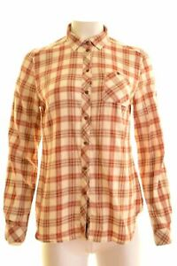 WOOLRICH-Womens-Shirt-Size-14-Medium-Multi-Check-Cotton-Regular-EY01