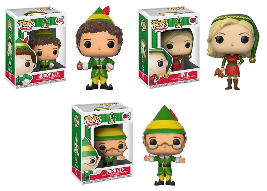 Funko POP  Christmas Elf Movie- Buddy Elf, Jovie & Papa Elf, Figure Set, NIB