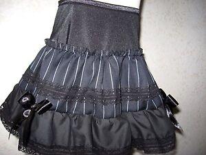 NEW Baby Girls Black grey Pinstriped lace Gift Skirt Alternative Shower Gift