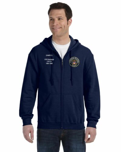 US Navy Personalized Custom Embroidered Full Zip Hooded Sweatshirt NWT